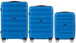 PP07, Luggage 3 sets (L,M,S) Wings, Blue