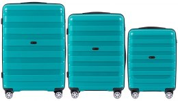 PP07, Luggage 3 sets (L,M,S) Wings, Green