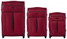 1601(2), Sets of 3 suitcases Wings 2 wheels L,M,S, Red