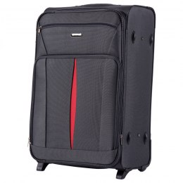 1601(2), Large soft travel suitcase 2 wheels Wings L, Grey