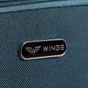 1601(2), Large soft travel suitcase 2 wheels Wings L, Coffee
