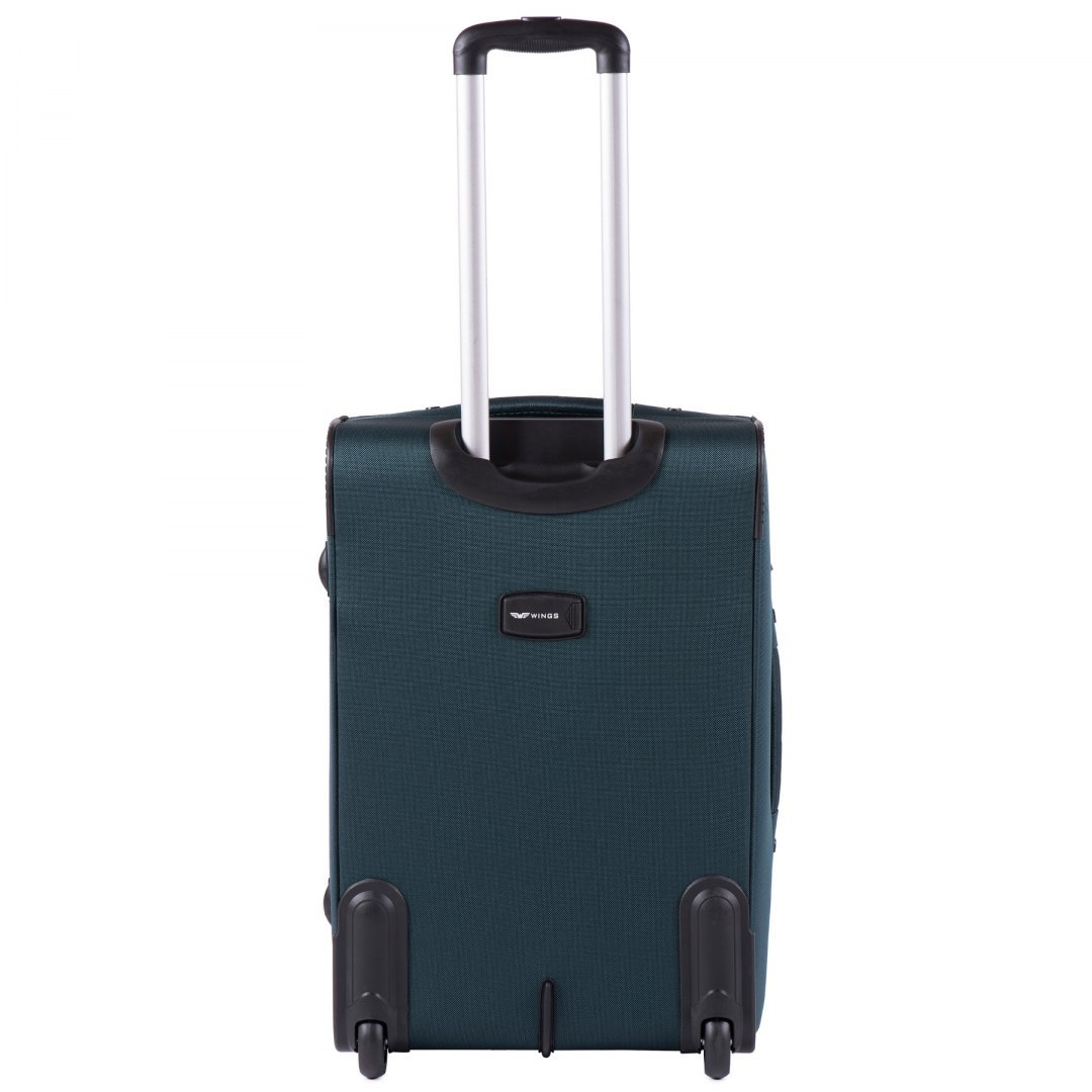 1601(2), Medium size soft travel suitcase 2 wheels Wings M, Green