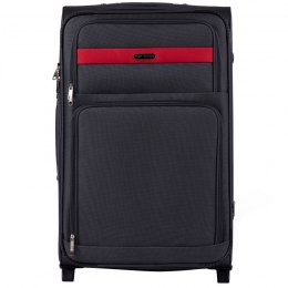 1605, Large soft travel suitcase 2 wheels Wings L, Grey
