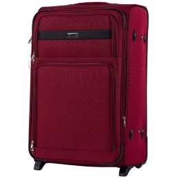 1605, Large soft travel suitcase 2 wheels Wings L, Red