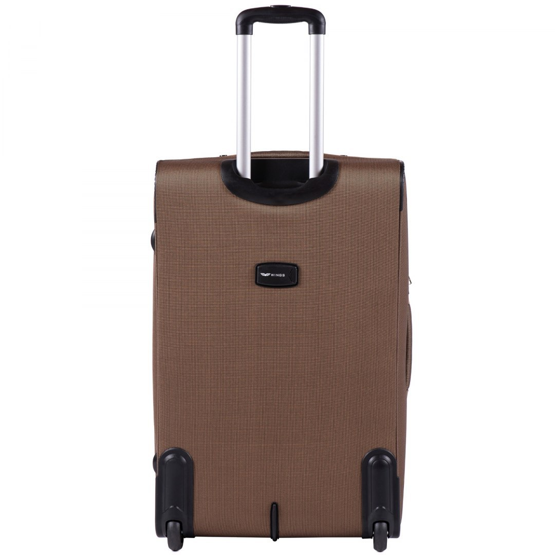 1605, Large soft travel suitcase 2 wheels Wings L, Yellow