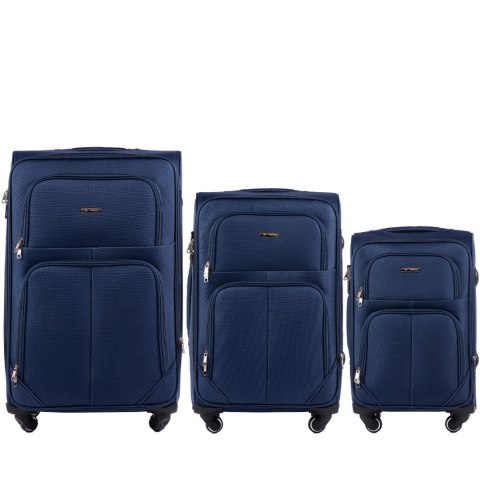 214, Sets of 3 suitcases Wings 4 wheels L,M,S, Purple