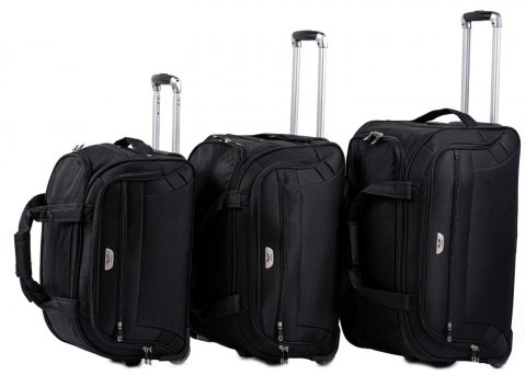 C1109, A set of 3 travel bags Wings, Black