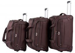 C1109, A set of 3 travel bags Wings, Coffee