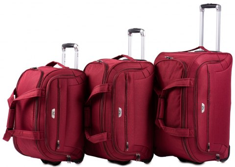 C1109, A set of 3 travel bags Wings, Dark red