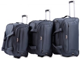 C1109, A set of 3 travel bags Wings, Grey