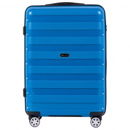 PP07, Middle size suitcase Wings M, Blue - Polipropyelene