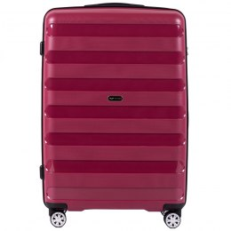PP07, Large travel suitcase Wings L, Red- Polypropylene
