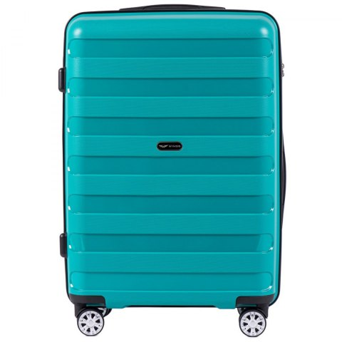 PP07, Middle size suitcase Wings M, Green - Polipropyelene