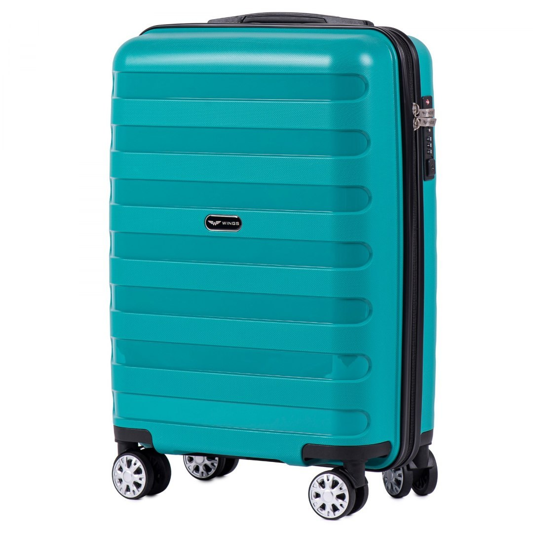 PP07, Cabin suitcase Wings S, Green- Polipropylene
