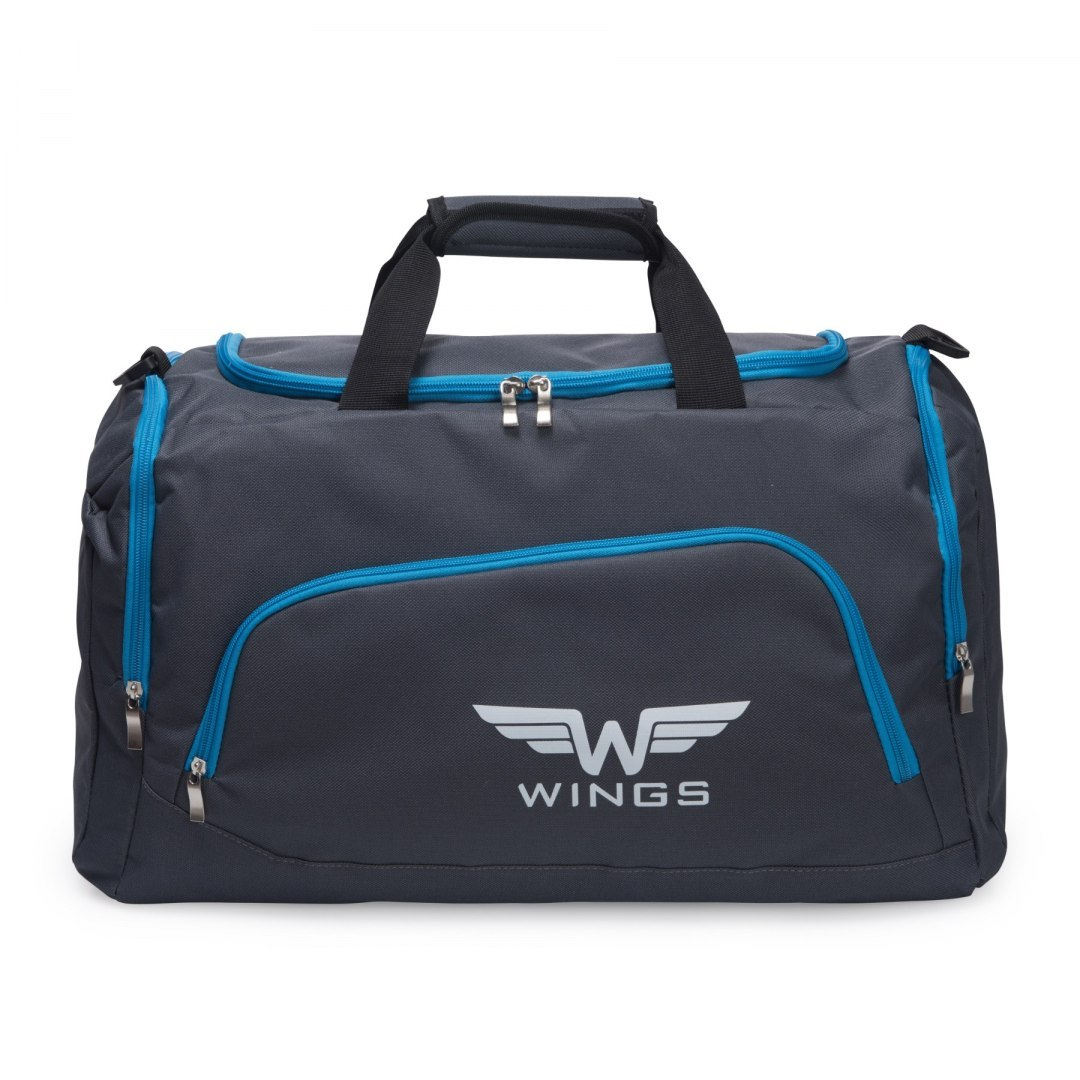 Sports / Travel bags WINGS TB1006 M, Grey-cyan