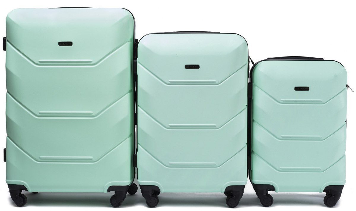 147, Luggage 3 sets (L,M,S) Wings, Light Green