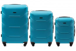 147, Luggage 3 sets (L,M,S) Wings, Cyan