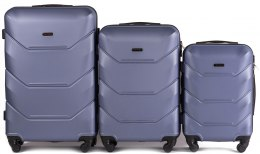 147, Luggage 3 sets (L,M,S) Wings, Silver Purple