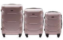 147, Luggage 3 sets (L,M,S) Wings, Rose Gold