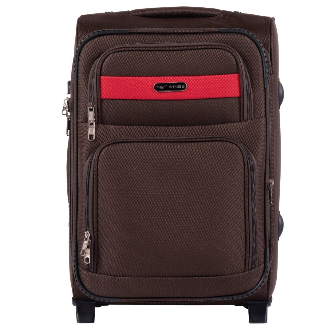 1605, Cabin size suitcase 2 wheels Wings S, Coffee