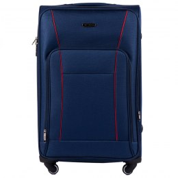 1609, Large soft travel suitcase 4 wheels Wings L, Blue