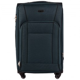 1609, Large soft travel suitcase 4 wheels Wings L, Green