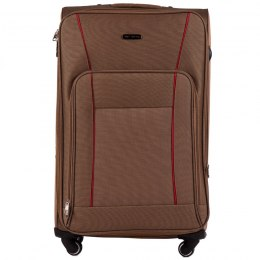 1609, Large soft travel suitcase 4 wheels Wings L, Yellow