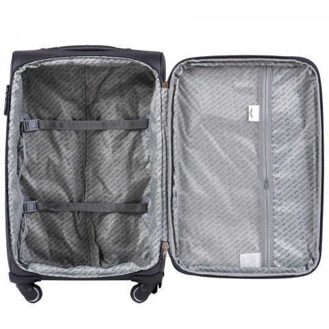 1609, Medium size soft travel suitcase 4 wheels Wings M, Green