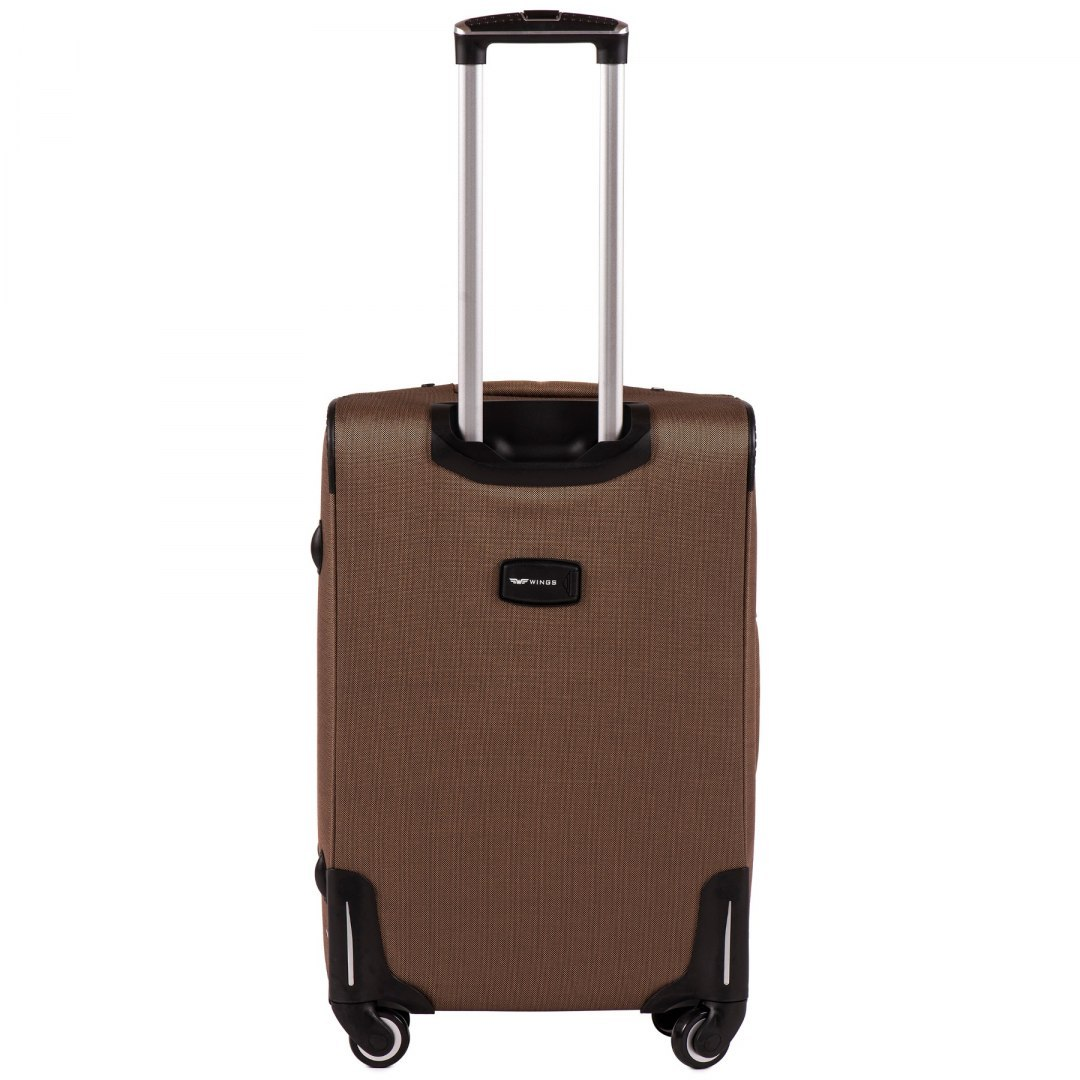 1609, Medium size soft travel suitcase 4 wheels Wings M, Yellow