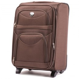 6802(2), Cabin soft travel suitcase 2 wheels Wings S, Coffe