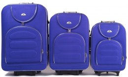 A801, Set of 3 suitcases (L,M,S), Purple