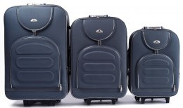 A801, Set of 3 suitcases (L,M,S), Grey
