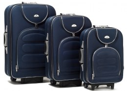 A801, Set of 3 suitcases (L,M,S), Black