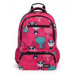 SCHOOL BACKPACK PLUS A PANDA PENCIL CASE PINK