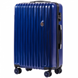 100 % POLICARBON / PC 5223, Middle size suitcase Wings M, Blue/ 5 years warranty