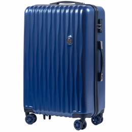 100 % POLICARBON / PC 5223, Middle size suitcase Wings M, Royal blue / 5 years warranty