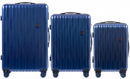 100 % POLICARBON / PC5223, Sets of 3 suitcases L,M,S, Royal blue/ 5 years warranty
