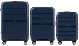 PP05, Luggage 3 sets (L,M,S) Wings, Blue
