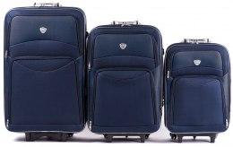 102, Set of 3 suitcases (L,M,S), Blue/Blue