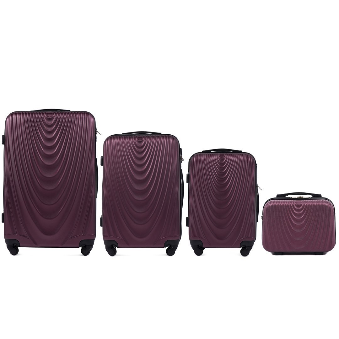 304, Luggage 4 sets (L,M,S,BC) Wings, Burgund