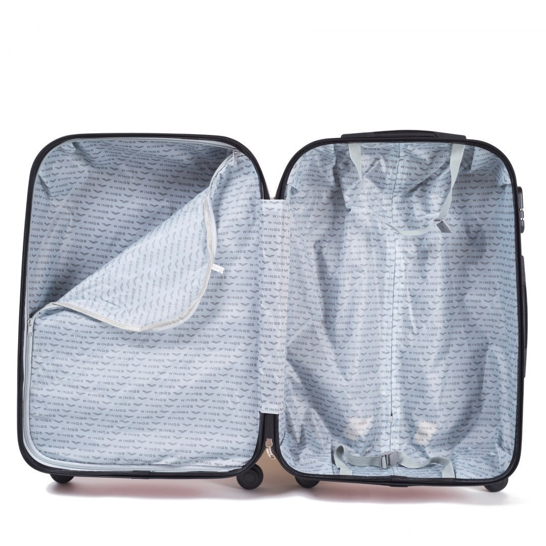 304, Luggage 4 sets (L,M,S,BC) Wings, Silver