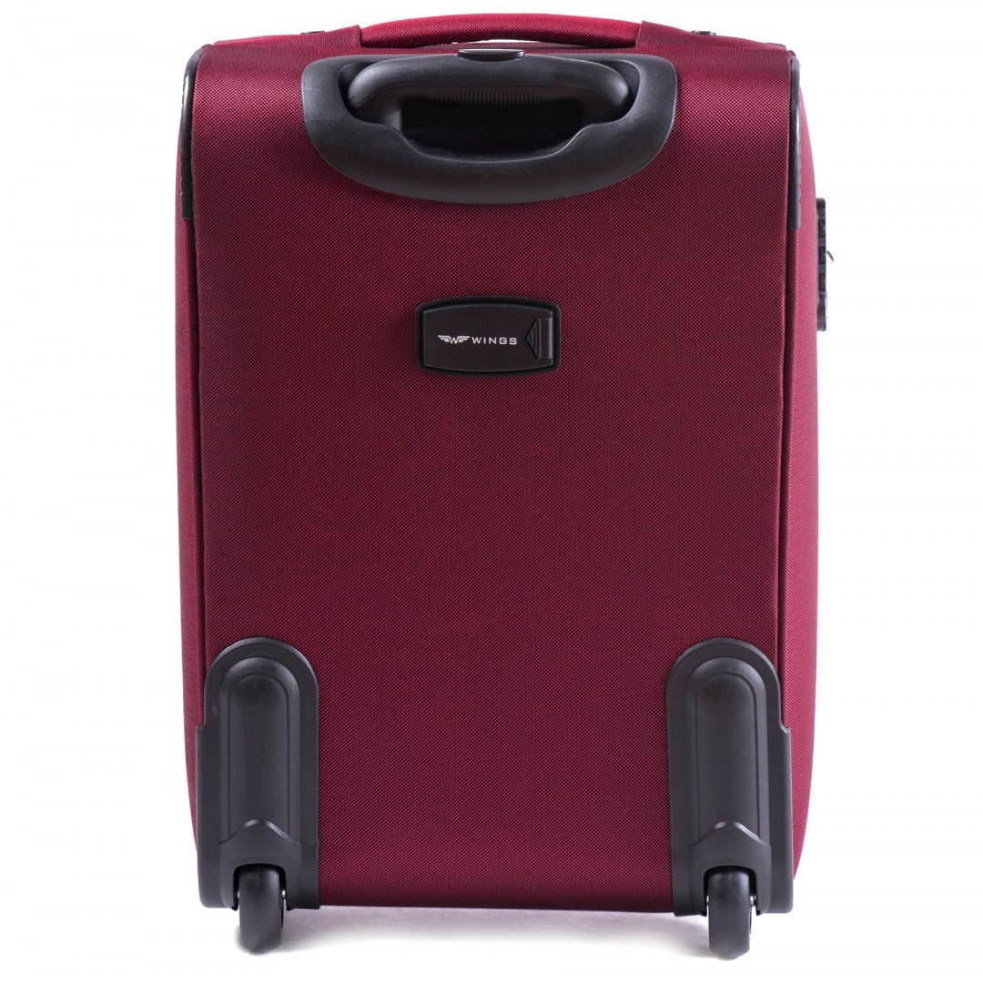 6802(2), Cabin soft travel suitcase 2 wheels Wings S, Double Red