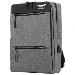 BP30-02, Travel backpack with USB Wings, Grey