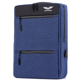 BP30-04, Travel backpack with USB Wings, Blue