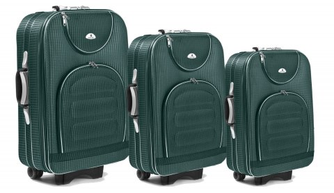 C801, Set of 3 suitcases (L,M,S), Green