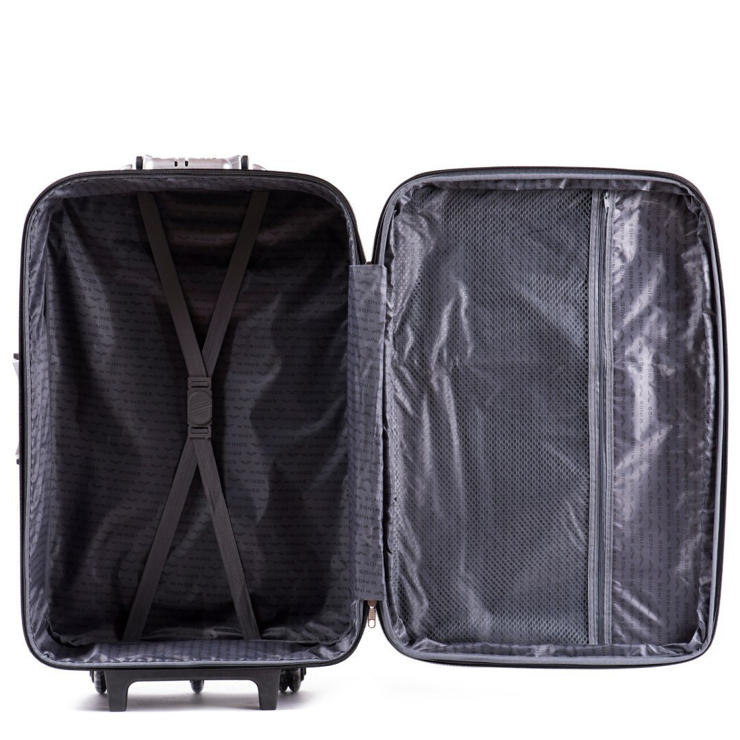 102, Set of 3 suitcases (L,M,S), Black/Black