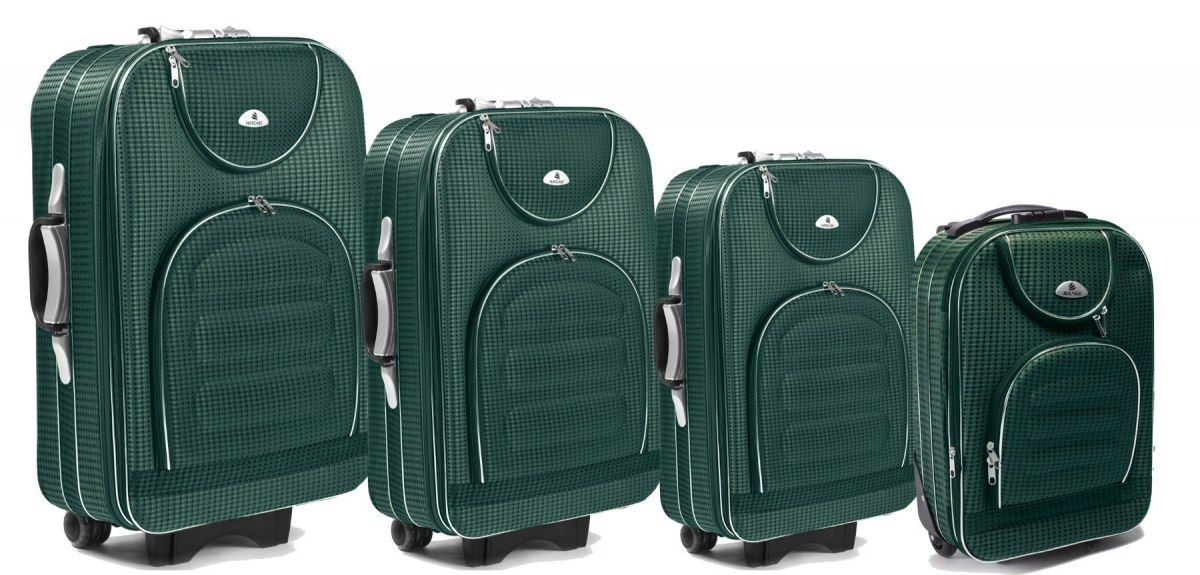 C801, Set of 4 suitcases (L,M,S,XS), Green