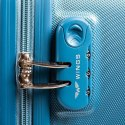 K310, Middle travel suitcase Wings M, Cyan