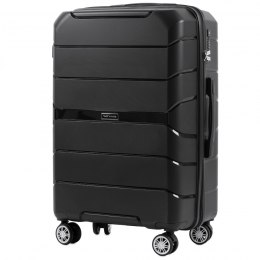 PP05, Middle size suitcase Wings M, Black - Polipropyelene