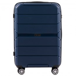 PP05, Middle size suitcase Wings M, Blue - Polipropyelene